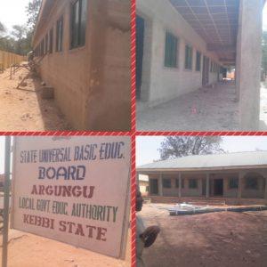 construction of 6 nos. of 3classrooms in JNI Argungu LGA in Kebbi North senatorial district
