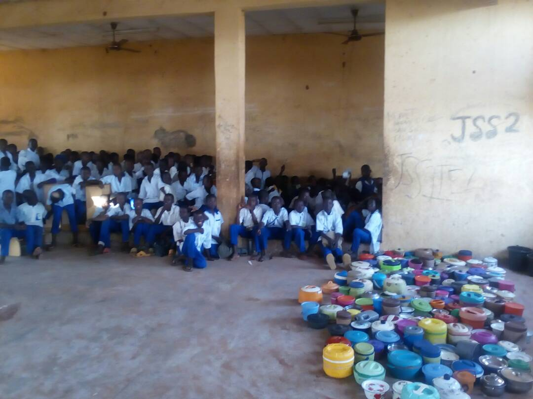 Dining hall converted to classroom in Zango Secondary School
