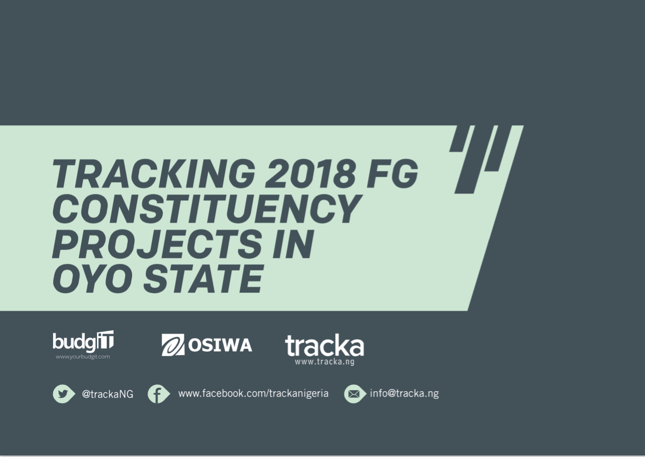 2018 FG Constituency Projects in Oyo State